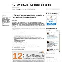 12 Éléments indispensables pour optimiser la Page d'accueil [Infographie] #SEO