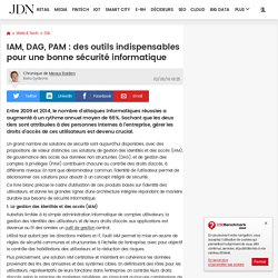 IAM, DAG, PAM : des outils indispensables pour une bonne sécurité informatique