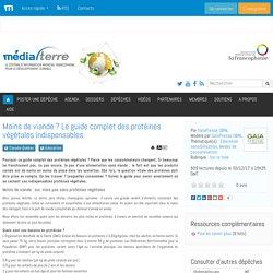 Moins de viande ? Le guide complet des protéines végétales indispensables - Médiaterre