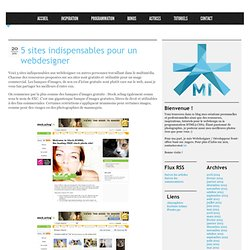 5 sites indispensables pour un webdesigner