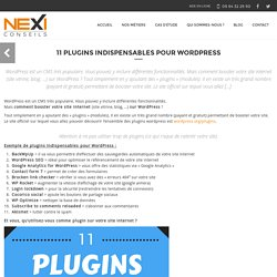11 plugins indispensables pour Wordpress