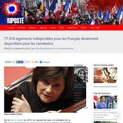 77.310 logements indisponibles pour les Français deviennent disponibles pour les clandestins
