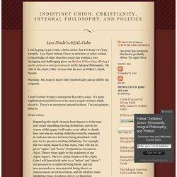 Indistinct Union: Christianity, Integral Philosophy, and Politics