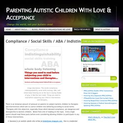 Compliance / Social Skills / ABA / Indistinguishability Resources