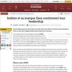 Inditex et sa marque Zara confirment leur leadership