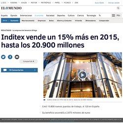 Inditex vende un 15% más en 2015, hasta los 20.900 millones