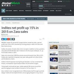 Inditex net profit up 15% in 2015 on Zara sales
