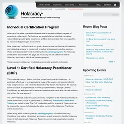 Individual Certification Program