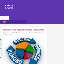 Abraham Galbut - Business Growth Requires Individual Effectiveness