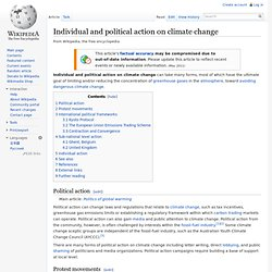 Individual and political action on climate change