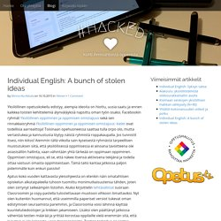 Individual English: A bunch of stolen ideas - #HackEd
