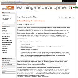 learninganddevelopment - Individual Learning Plans