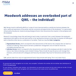 Individual and organizational factors of well-being - Moodwork