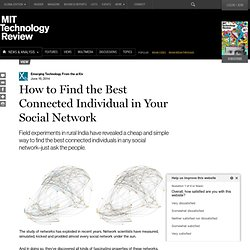 How to Find the Best Connected Individual in Your Social Network