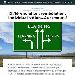 Différenciation, remédiation, individualisation...Au secours! - Edumoov, le blog