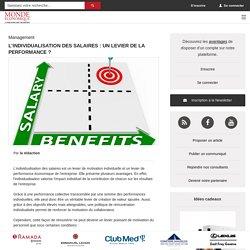 L'individualisation des salaires : un levier de la performance ? / Actualités - Monde Economique