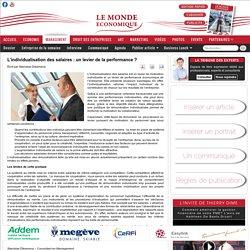 Le Monde Economique - L'individualisation des salaires : un levier de la performance ?