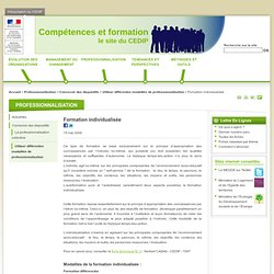 Formation individualisée