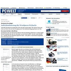 Individualisierung der Wordpress-Webseite - Wordpress-Grundlagen - Online-Tools