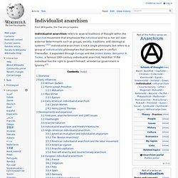 Individualist anarchism