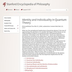 Identity and Individuality in Quantum Theory