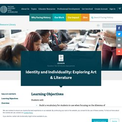 Identity and Individuality: Exploring Art & Literature