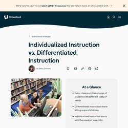 Individualized vs. Differentiated Instruction