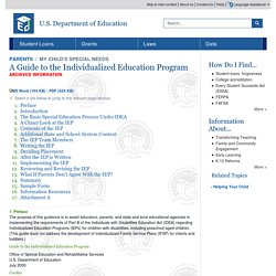 Guide to the Individualized Education Program