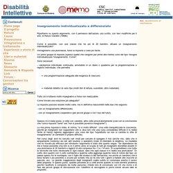 Disabilità Intellettive - insegnamento individualizzato e differenziato