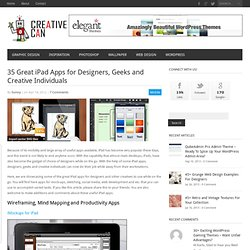 35 Great iPad Apps for Designers, Geeks and Creative Individuals - Creative Can Creative Can