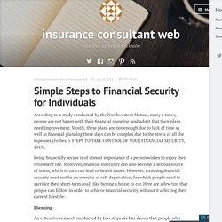 Simple Steps to Financial Security for Individuals – insurance consultant web
