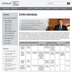 Certify Individuals | IPMA: International Project Management Association