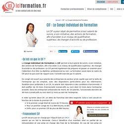 CIF : Le Congé Individuel de Formation