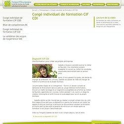 Congé individuel de formation CIF CDI, Témoignages, Fongecif Bourgogne.