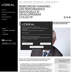 Ressources humaines : lier performance individuelle et développement collectif - Partager notre croissance