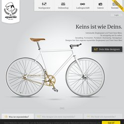Individual Single Speeds and fixies. Bikes from Dusseldorf