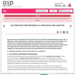 Les libertés individuelles et collectives des salariés