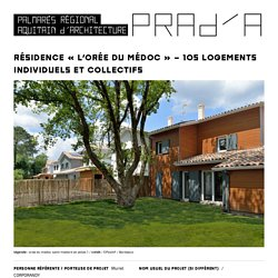 Résidence «L'Orée du Médoc» – 105 logements individuels et collectifs