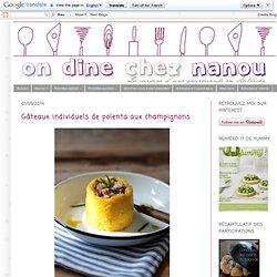 Gâteaux individuels de polenta aux champignons