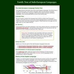Indo-European Language Family Tree