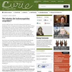 Var talades det indoeuropeiska urspråket? – Curie