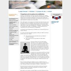 L'Esprit Indompté » L'importance de la posture de méditation