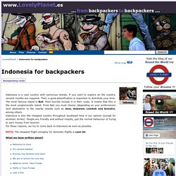Indonesia for backpackers