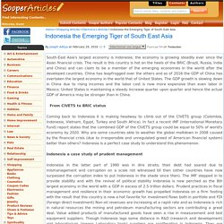 Indonesia the Emerging Tiger of South East Asia