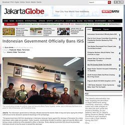 Indonesian Government Officially Bans ISIS