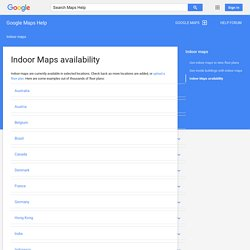 Indoor Maps availability - Google Maps for Mobile Help