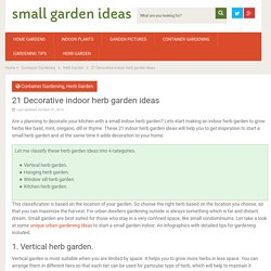Indoor herb garden ideas for decoration - small garden ideas