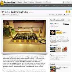 DIY Indoor Seed Starting System