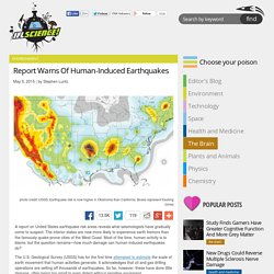 Report Warns Of Human-Induced Earthquakes