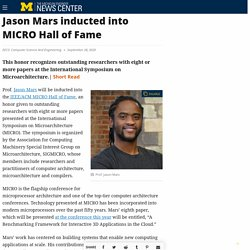 Jason Mars inducted into MICRO Hall of Fame – The Michigan Engineer News Center